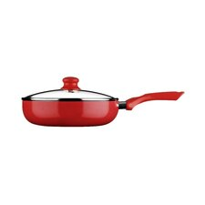 Ecocook Non Stick Frypan in Red with Lid