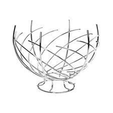 Spiral Design Twisted Fruit Basket in Chrome