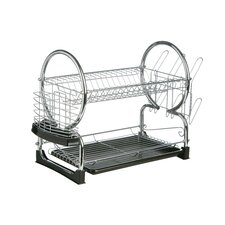 56 cm 2 Tier Dish Drainer with Tray