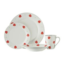 16 Piece Strawberry Fields Dinner Set
