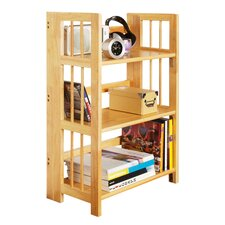 3 Tier Folding Stackable Bookcase