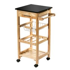 79 cm Kitchen Trolley with Granite Top