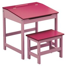 Childrens Desk and Stool Set