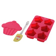 3 Piece Silicone Cupcake Baking Set