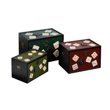 <strong>Premier Housewares</strong> Dice Storage Trunks 3 Piece Set