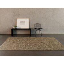 Basketweave Bark Floor Mat Brown/Tan Area Rug