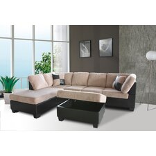 Mt. St. Helens Left Chaise Sectional with Ottoman