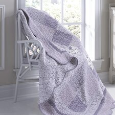 Lavender Rose Cotton Throw
