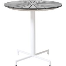 Hard and Ellen Round Aluminium / Poly Wood Coffee Table