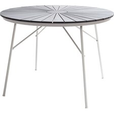 Hard and Ellen Round Aluminium / Poly Wood Table