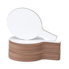 """Dry Erase Paddle 1' x 7"""" Whiteboard (Set of 24)"""