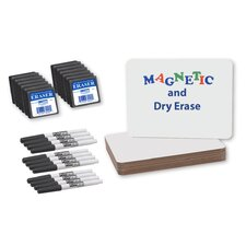"36 Piece Magnetic Dry Erase 9"" x 1' Whiteboard Set"