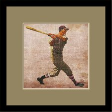 Vintage Baseball by Butler Custom Framed Wall Art