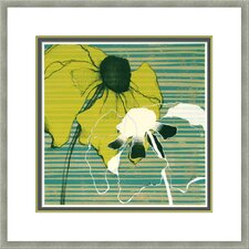 """Layered Poppies I"" by Goldberger Custom Framed Giclee Print"