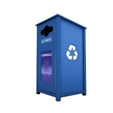N1P1 Series Side Load Single 32 Gallon Vail Top Recycling