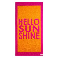 Hello Sunshine Beach Towel