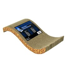 Catit S-Chaise Cardboard Scratching Board with Catnip