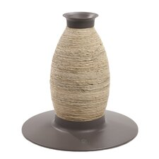 Catit Blow Molded Vase Corn-husk and Sisal Scratching Post