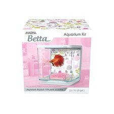 Marina 0.5 Gallon Floral Décor Betta Aquarium Kit