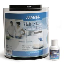 Marina 0.8 Gallon Half-Moon Betta Aquarium Kit
