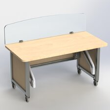 Mobile Station Height Adjustable Desk
