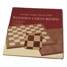 "Premium Quality 20"" Walnut Chessboard"