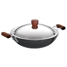 "Hard Anodised 5"" Frying Pan with Steel Lid"
