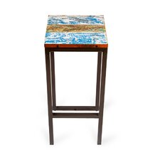 "Fin and Tonic 30"" Reclaimed Wood Bar Stool"