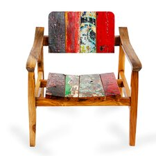 Swell Reclaimed Wood Dining Arm Chair