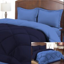 3 Piece Peach Skin Reversible Ensemble Comforter Set