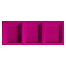 "Brights 14"" Rectangular Three Section Melamine Serving Tray"
