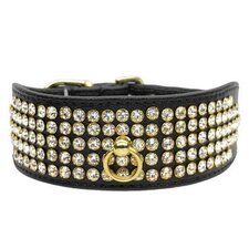 Diamond 5 Line Clear Crystal Dog Collar