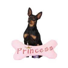 Calming Bone Princess Dog Pillow in Pink