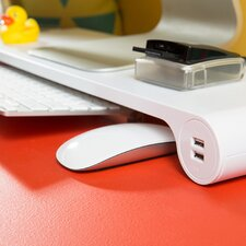 Space Bar Pop Monitor Stand and 6 Port USB Hub