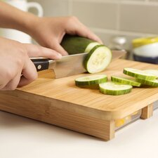 3 Piece Cubo Cutting Board & Prep Set in Natural