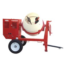 7 Cubic Foot Honda GX - 240 Whiteman Poly Drum Mortar Mixer with Skid Mount