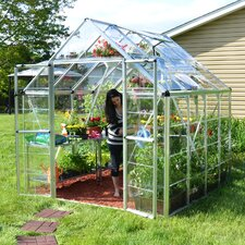 "Snap and Grow 6' 9"" H x 8.0' W x 8.0' D Polycarbonate Greenhouse"