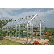 "Snap and Grow 6' 9"" H x 8.0' W x 20.0' D Polycarbonate Greenhouse"