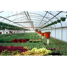"Expansion Mansion 11'4"" H x 72' D Polyethylene and Polycarbonate Commercial Greenhouse"