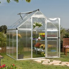 "7' 1"" H x 6.0' W x 6.0' D Nature Twin Wall Polycarbonate Greenhouse"