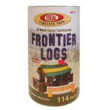 Wood Construction 114 pieces Frontier Logs in Canister