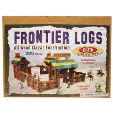 Wood Construction 300 pieces Frontier Logs in Canister
