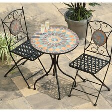 Cairo 3 Piece Round Dining Set