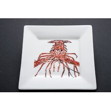 "7.25"" She's Got Legs Lobster Square Salad Plate"