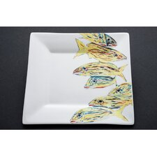 "Snapper 7.25"" Tall Order 'O Grunts Square Salad Plate"