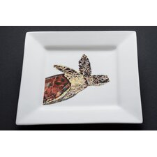 "Turtle 10"" Reef Time Square Dinner Plate"