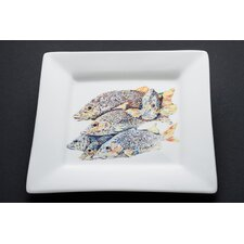 "Snapper 10"" Even Odd Man Out Square Dinner Plate"