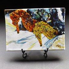 "Ocean ""Pair of Atlantis Seahorses"" Giclee Print on Gallery Wrapped Canvas"