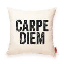 Expressive Carpe Diem Muslin Throw Pillow