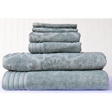 6 Piece Mosaic Jacquard Towel Set